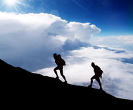 Climbing a mountain. Stock Photography