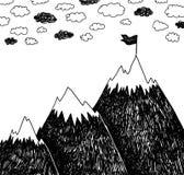Climbing the mountains, achieve goal stock illustration