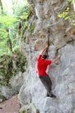 Climbing move Stock Image