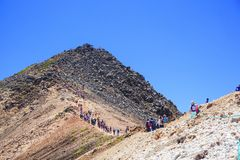 Climbing Mt. Norikura Royalty Free Stock Photography