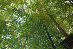 Climbing net Royalty Free Stock Images