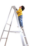 Climbing. Over white Royalty Free Stock Photos