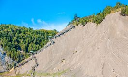 Climbing Path to the top of Montmorency Falls royalty free stock photos