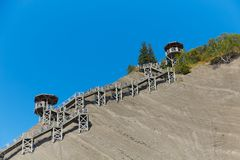 Climbing Path to the top of  Montmorency Falls stock photography