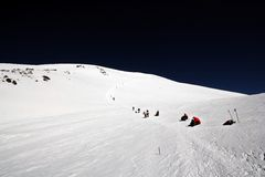 Climbing at the peak Elbrus, Caucasus Royalty Free Stock Photography