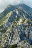 Climbing in Piatra Craiului mountains, Romania Stock Photos