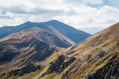 Climbing Placlive peak at Tatras Stock Photos