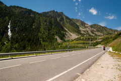 Climbing on the Pyrenees Stock Photos