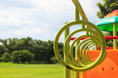 Climbing rings in playground Royalty Free Stock Photography