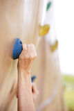 Climbing a Rock Wall Royalty Free Stock Image