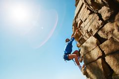 Climbing rock Royalty Free Stock Images