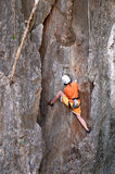 Climbing the rocks Royalty Free Stock Images