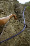 Climbing rocks Royalty Free Stock Photos