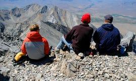 Climbing Rocky Ridge Stock Photo