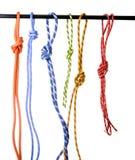 Climbing rope. Isolated on white Stock Photo