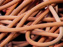 Climbing rope as background texture stock image