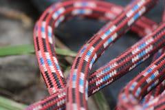 Climbing Rope Closeup. A closeup of a climbing rope used outdoors Royalty Free Stock Photo