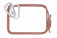 Climbing rope frame Royalty Free Stock Photo