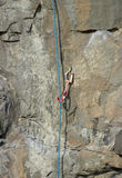 Climbing Rope & Karibiner stock photo