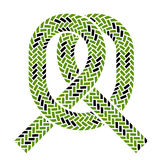 Climbing rope knot symbol Stock Photos