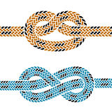 Climbing rope knot symbols Stock Image