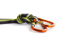 Climbing rope on the table Royalty Free Stock Photo
