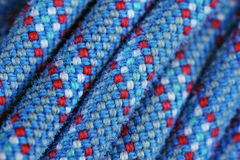 Climbing rope texture blue and red color Stock Photo