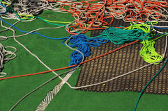Climbing ropes. Sports objects theme Royalty Free Stock Photo