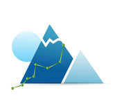 Climbing route illustration design Stock Photography