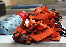Climbing Safety Equipment Stock Photo