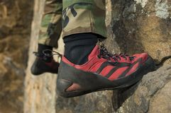 Climbing Shoe Royalty Free Stock Photography