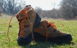 Climbing shoes Royalty Free Stock Images