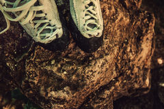 Climbing shoes. Royalty Free Stock Photography