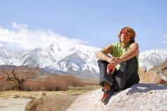 Climbing Solitude Stock Image