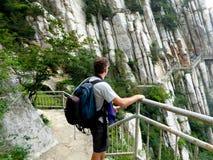 Climbing Songshan Royalty Free Stock Image