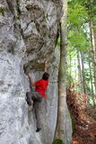 Climbing sports man Stock Image