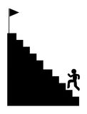 Climbing stairs icon Stock Photo