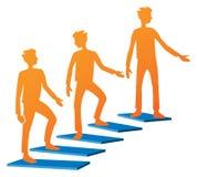 Climbing Stairs Logo Stock Image