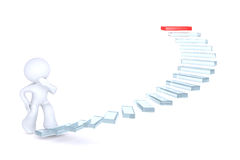 Climbing the stairs of success Royalty Free Stock Photos