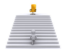 Climbing stairs to earn the business position Royalty Free Stock Photos