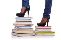 The climbing the steps of knowledge - education concept Royalty Free Stock Images