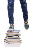 The climbing the steps of knowledge - education concept Stock Photography