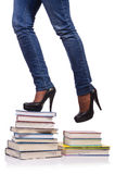 The climbing the steps of knowledge - education concept Stock Photos