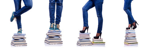 The climbing the steps of knowledge - education concept Royalty Free Stock Photography