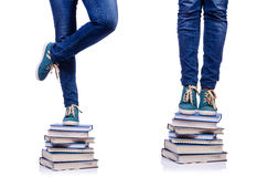The climbing the steps of knowledge - education concept Royalty Free Stock Photo