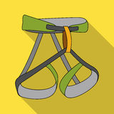 Climbing strapping, insurance.Mountaineering single icon in flat style vector symbol stock illustration web. Royalty Free Stock Photo