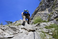 Climbing in summer Stock Photography