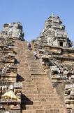 Climbing Ta Keo Temple, Cambodia Stock Images
