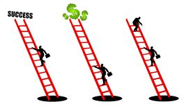 Free Climbing The Ladder Of Success 2 Stock Photography - 4267292