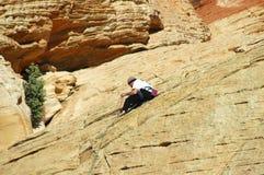 Climbing The Mountain Stock Photo